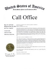 Registration certificate #4 615 223 for the Call Office™ trademark